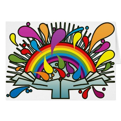 Rainbow_In_Your_Hands Tarjeta De Felicitación