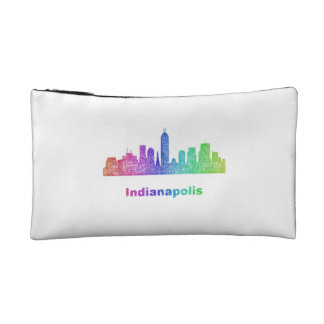 Rainbow Indianapolis skyline Cosmetic Bag