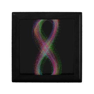Rainbow Infinity Design Jewelry Box