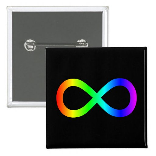 Rainbow Infinity Symbol Pin