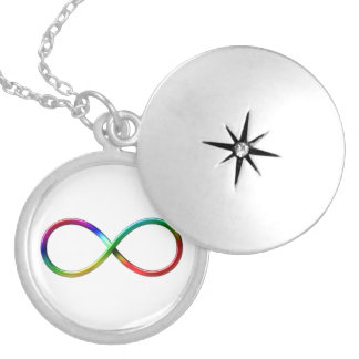 Rainbow Infinity Symbol on white background Pendant