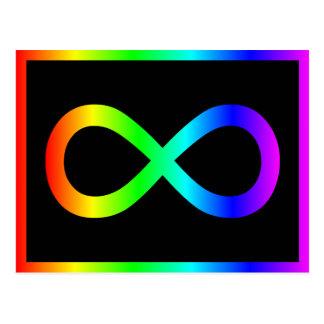 Rainbow Infinity Symbol Postcard