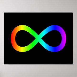 Rainbow Infinity Symbol Posters
