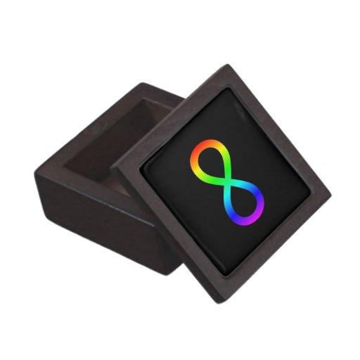 Rainbow Infinity Symbol Premium Jewelry Box