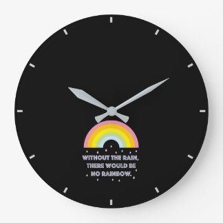 Rainbow Inspirational and Motivational Quote Large Clock