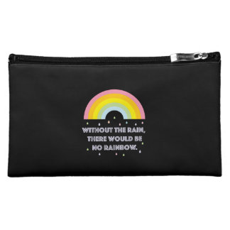 Rainbow Inspirational and Motivational Quote Makeup Bag