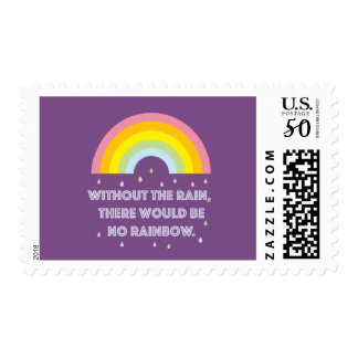 Rainbow Inspirational and Motivational Quote Postage