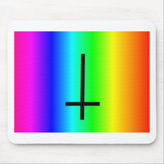 Rainbow inverted cross gear mouse pad