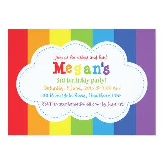 Rainbow Invitation / Rainbow Invite / Colorful