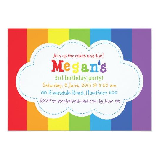 Rainbow Invitation / Rainbow Invite / Colorful | Zazzle.com