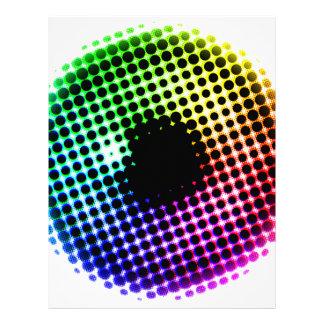 Rainbow Iris Unicorn Eye Color Spectrum Comic Letterhead