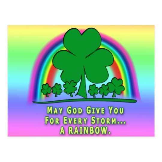 RAINBOW - IRISH BLESSING POSTCARD