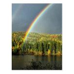 rainbow irish luck lucky nature sky water trees postcard
