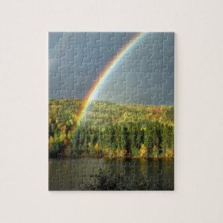 rainbow irish luck lucky nature sky water trees jigsaw puzzle