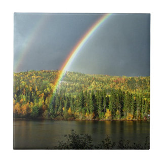 rainbow irish luck lucky nature sky water trees small square tile