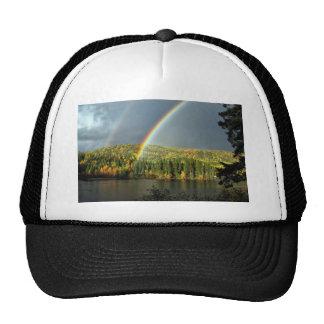 rainbow irish luck lucky nature sky water trees trucker hat