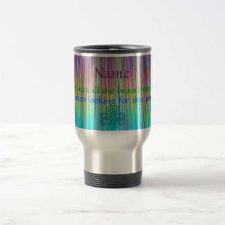 RAINBOW Irish Proverb Mug (Add a NAME!)