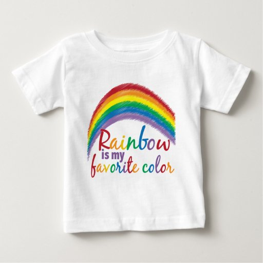 rainbow is my favorite color baby T-Shirt | Zazzle