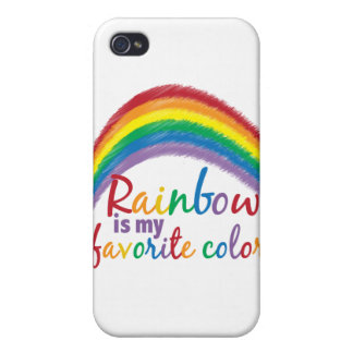 rainbow is my favorite color iPhone 4 covers