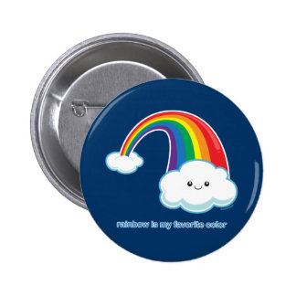 Rainbow is My Favorite Color Pinback Button