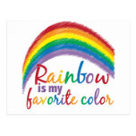 rainbow is my favorite color post cards