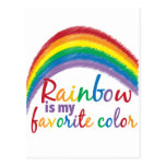 rainbow is my favorite color postcards