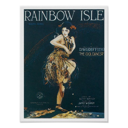 Rainbow Isle Vintage Songbook Cover Poster