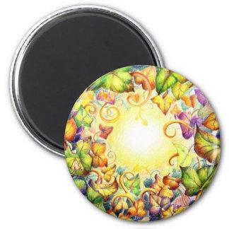Rainbow Ivy Eye 2 Inch Round Magnet