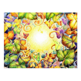 Rainbow Ivy Eye Postcard