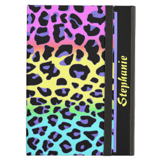 Rainbow Jaguar Print Custom iPad Air Case