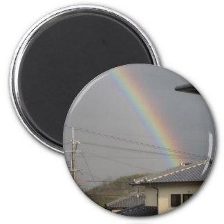 rainbow japan 2 inch round magnet
