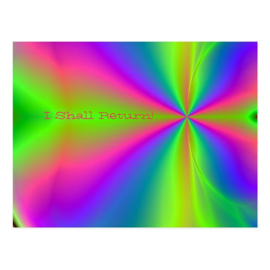 Rainbow Java, I Shall Return! Postcard