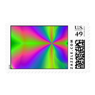 Rainbow Java Postage Stamp