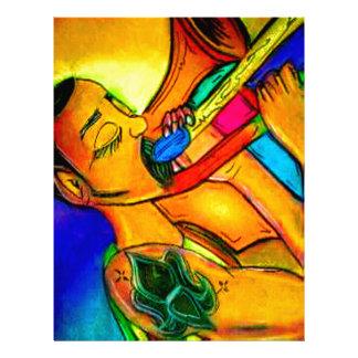 Rainbow Jazz Man Letterhead
