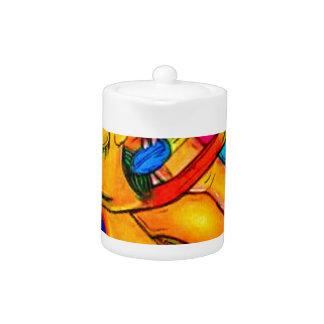Rainbow Jazz Man Teapot