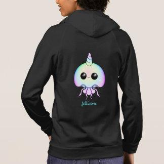 Rainbow Jellicorn Women's Zip Up Hoodie Sweatshirt