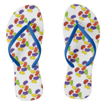 Rainbow Jelly Bean Beans Easter Candy Flip Flops