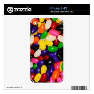 Rainbow Jelly Beans - Candy Print iPhone 4 Skin