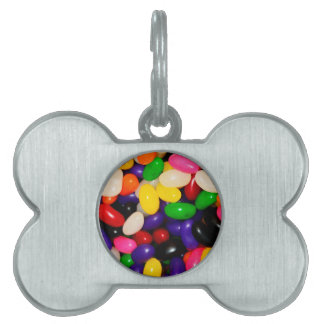 Rainbow Jelly Beans - Candy Print Pet ID Tag