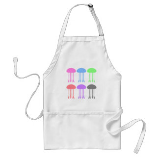 Rainbow Jellyfishes on Parade Adult Apron
