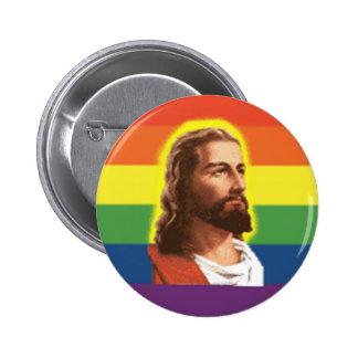Rainbow-Jesus 2 Inch Round Button