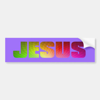 Rainbow Jesus Bumper Sticker