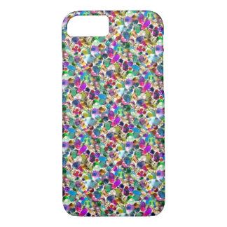 Rainbow Jewel Rhinestone Graphic Bling iPhone 7 ca iPhone 8/7 Case
