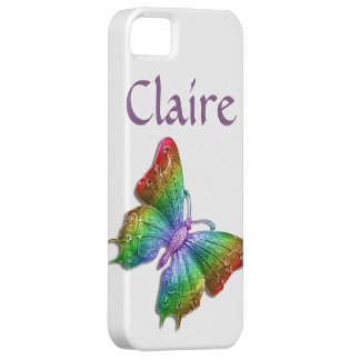 Rainbow Jeweled Butterfly 3D Personalized iPhone 5 Covers