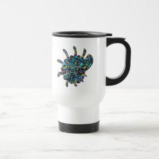 Rainbow Jeweled Shell Travel Mug