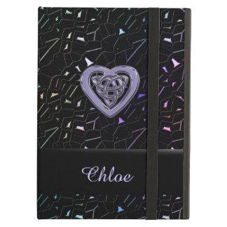 Rainbow Jeweled Sparkles with Celtic Heart Knot iPad Air Case