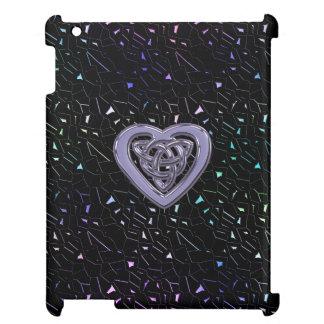 Rainbow Jeweled Sparkles with Celtic Heart Knot iPad Case