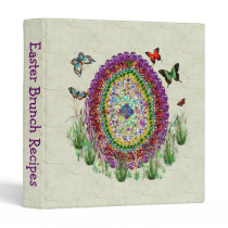 Rainbow Jewels Easter Egg 3 Ring Binder
