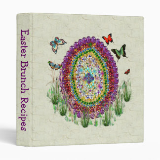 Rainbow Jewels Easter Egg 3 Ring Binder