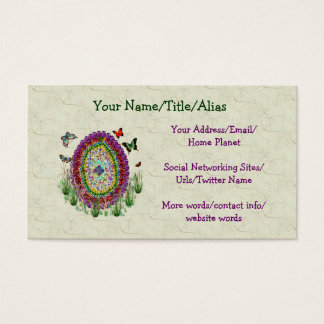 Rainbow Jewels Easter Egg Business Card